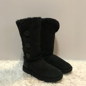 UGG Tall Bailey Button Black Boots